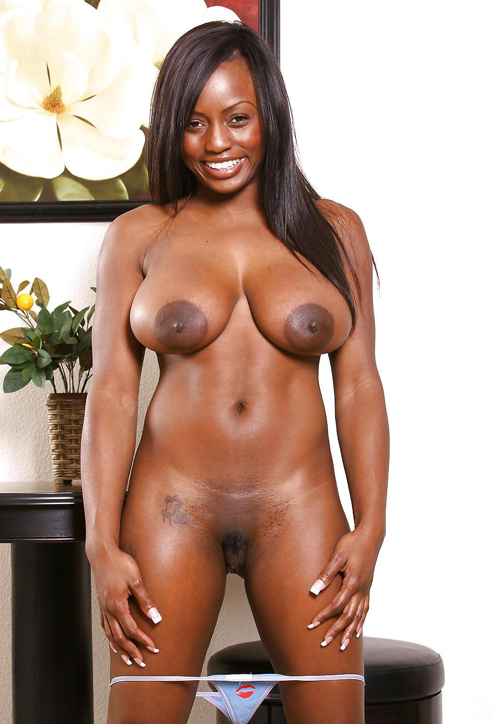 Nice small black tits