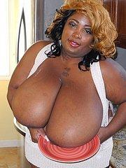 huge black boobs