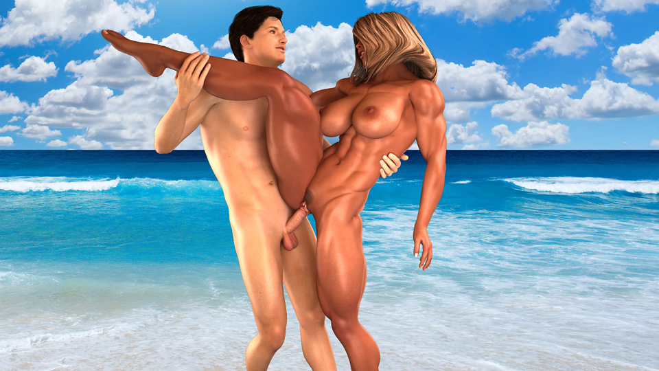 Download low-quality Muscular Goddess HD 3D video sample!