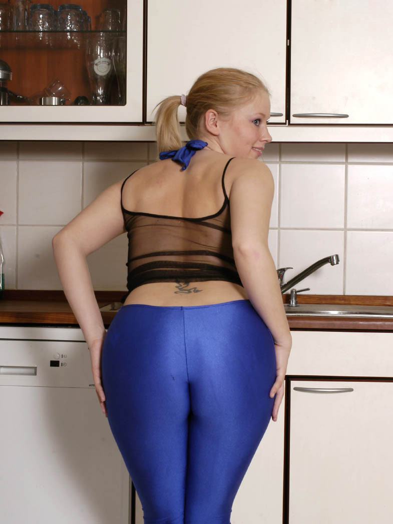 image Sexy ass in leggings at the department store