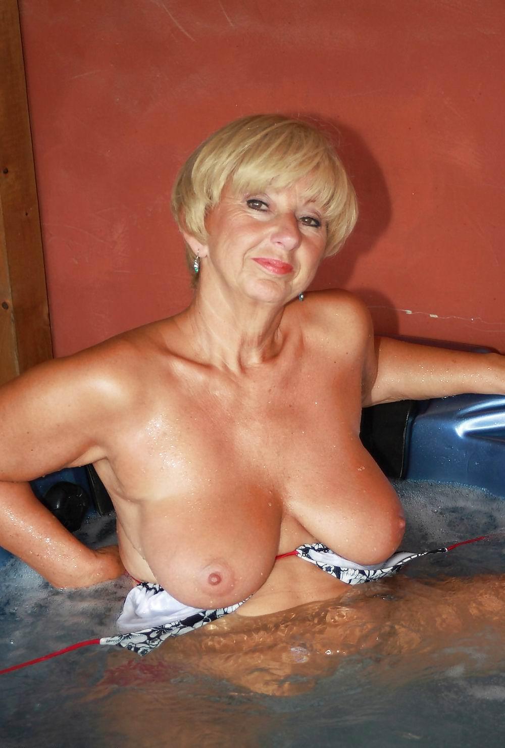 Grannie tits