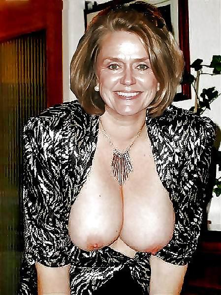 Very old granny big tits