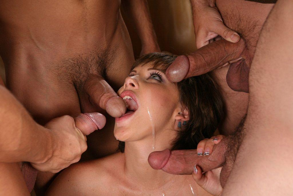 сто самцов и одна телка кончают в рот порно буккаке коже, приколы