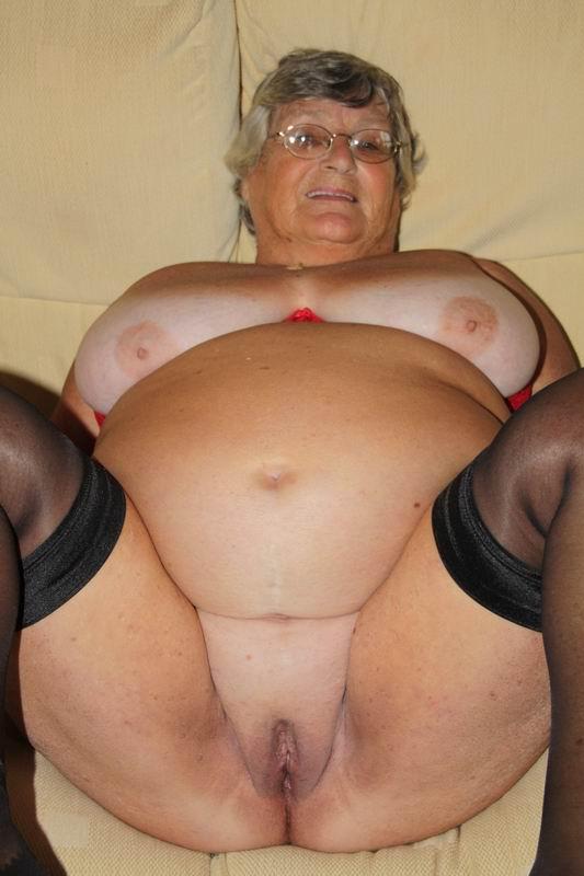Granny tits ass