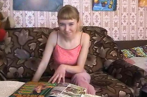 Young russian amateur teen girl invites you to her site full of the EXCLUSIVE  content!