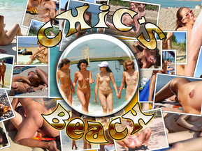 Chichs beach - Sweet nude teens get fucked hard inside their lewd pussies on the beach