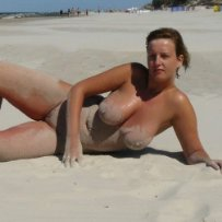Nude wife at abeach