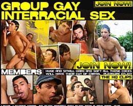 group gay interracial sex