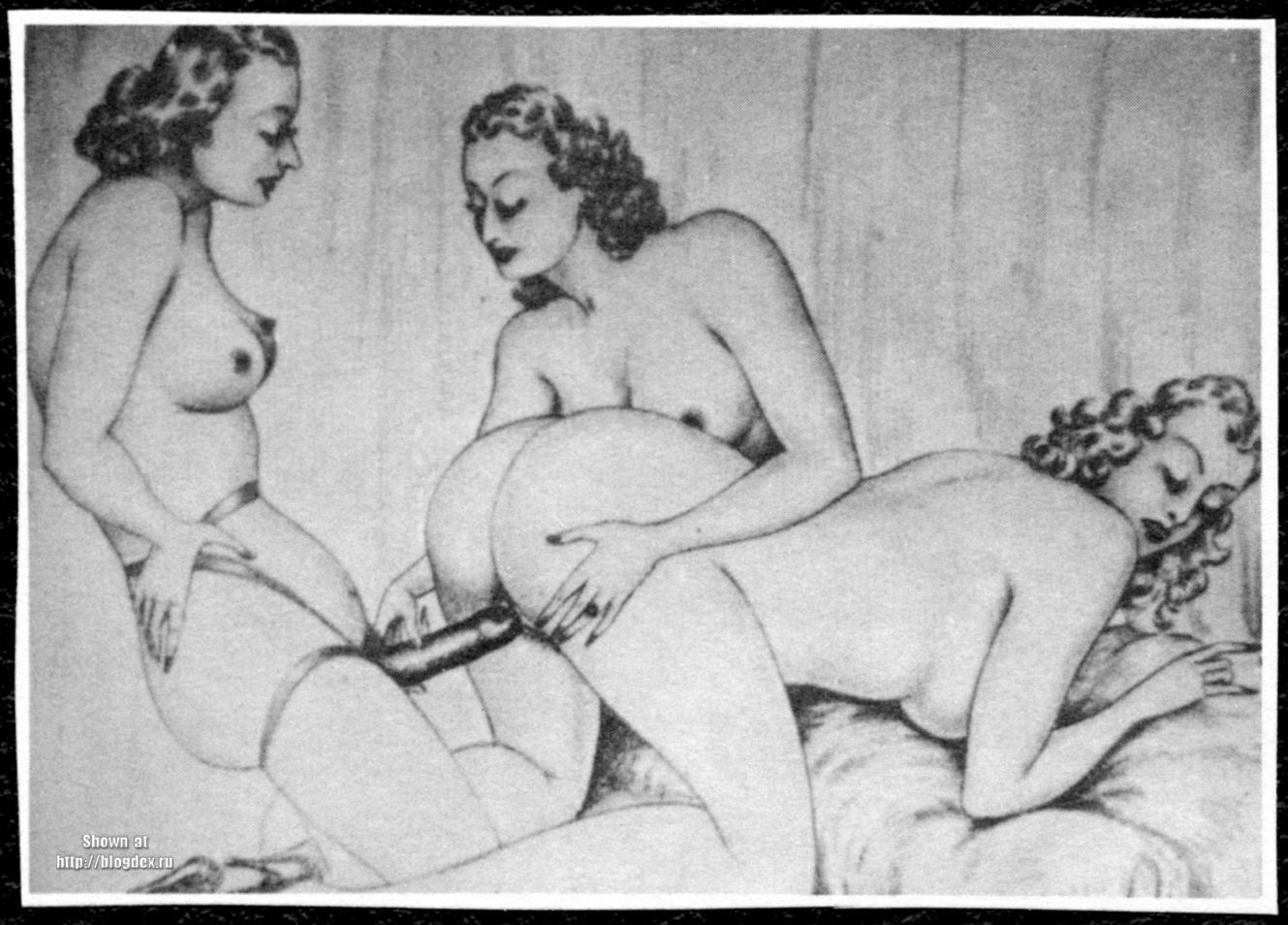 Ретро порно картины, Ретро порно - фото секс 12 фотография