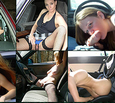 amateur blowjob in car