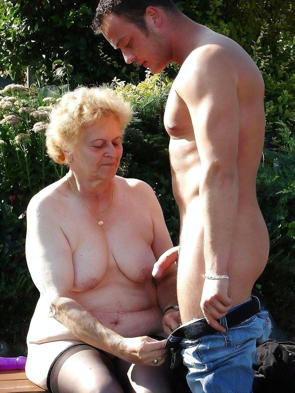 Grandma Jacks Off Grandson
