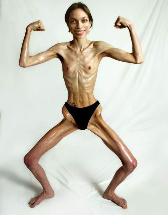 Super skinny woman naked